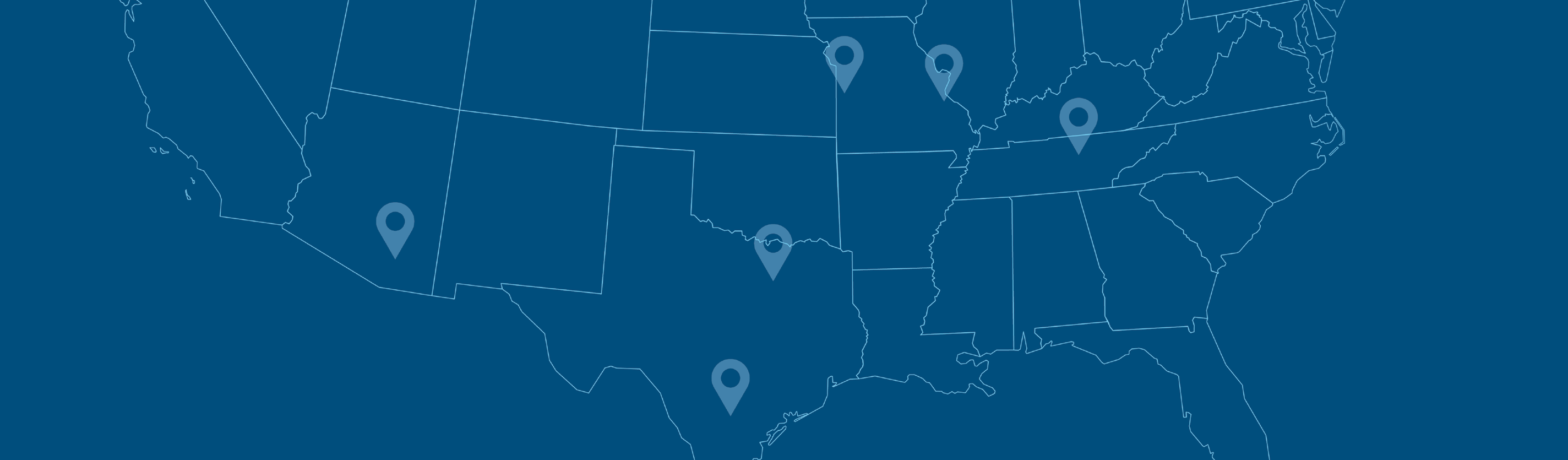 Map of Ace Pipe Cleaning locations